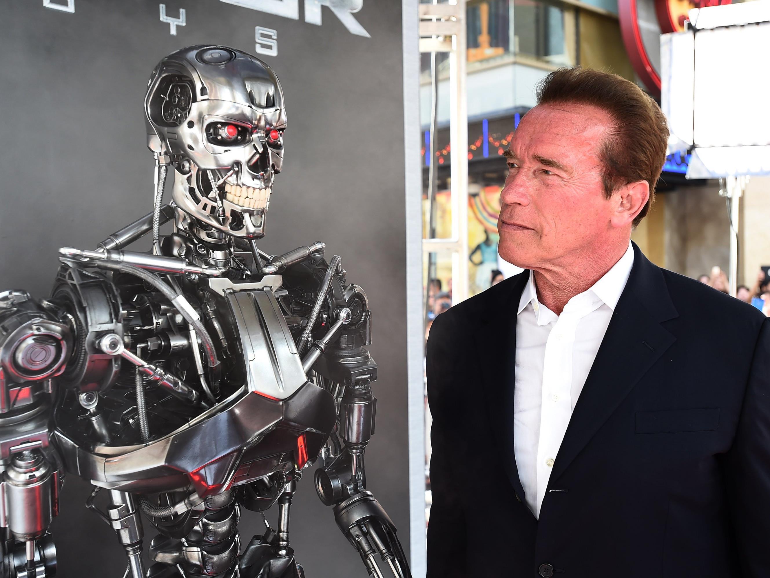 Arnold Schwarzenegger in LA bei der Premiere von Terminator 5: Genisys.
