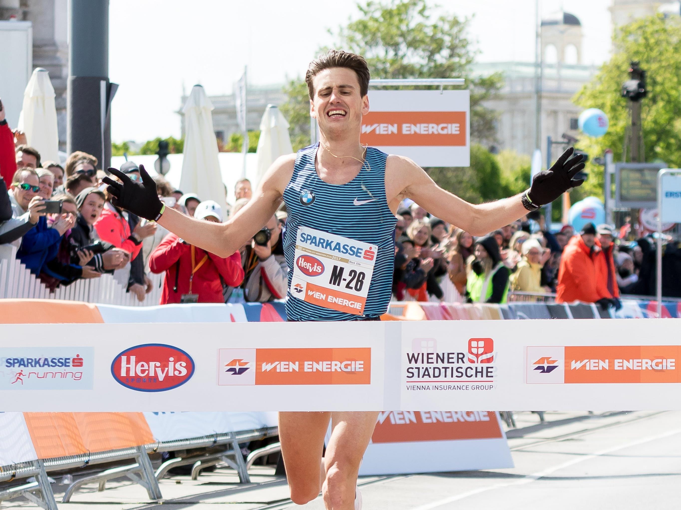 Valentin Pfeil belegte beim Vienna City Marathon 2017 den 11. Platz.