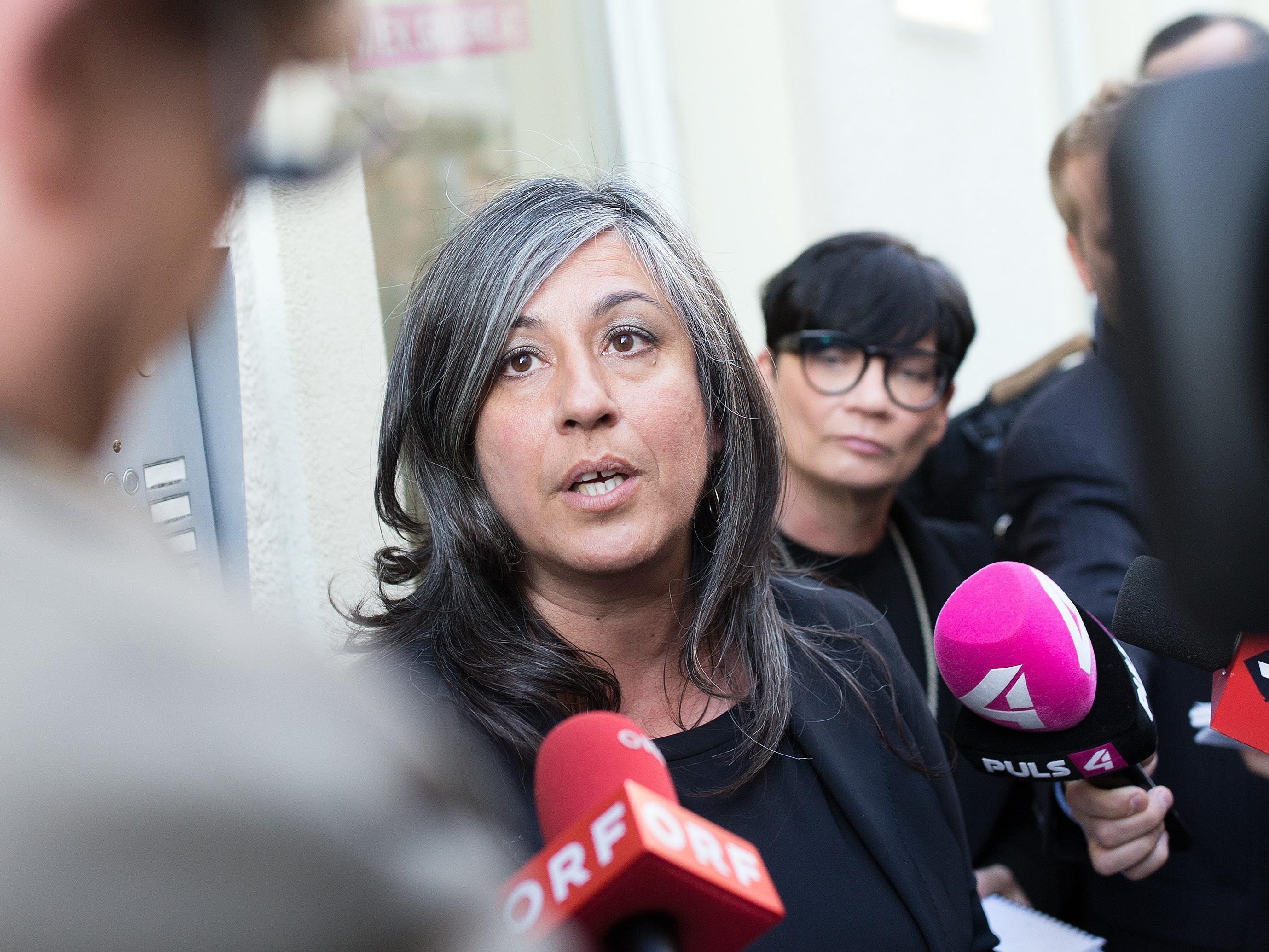 Maria Vassilakou vor der Krisensitzung der Grünen.