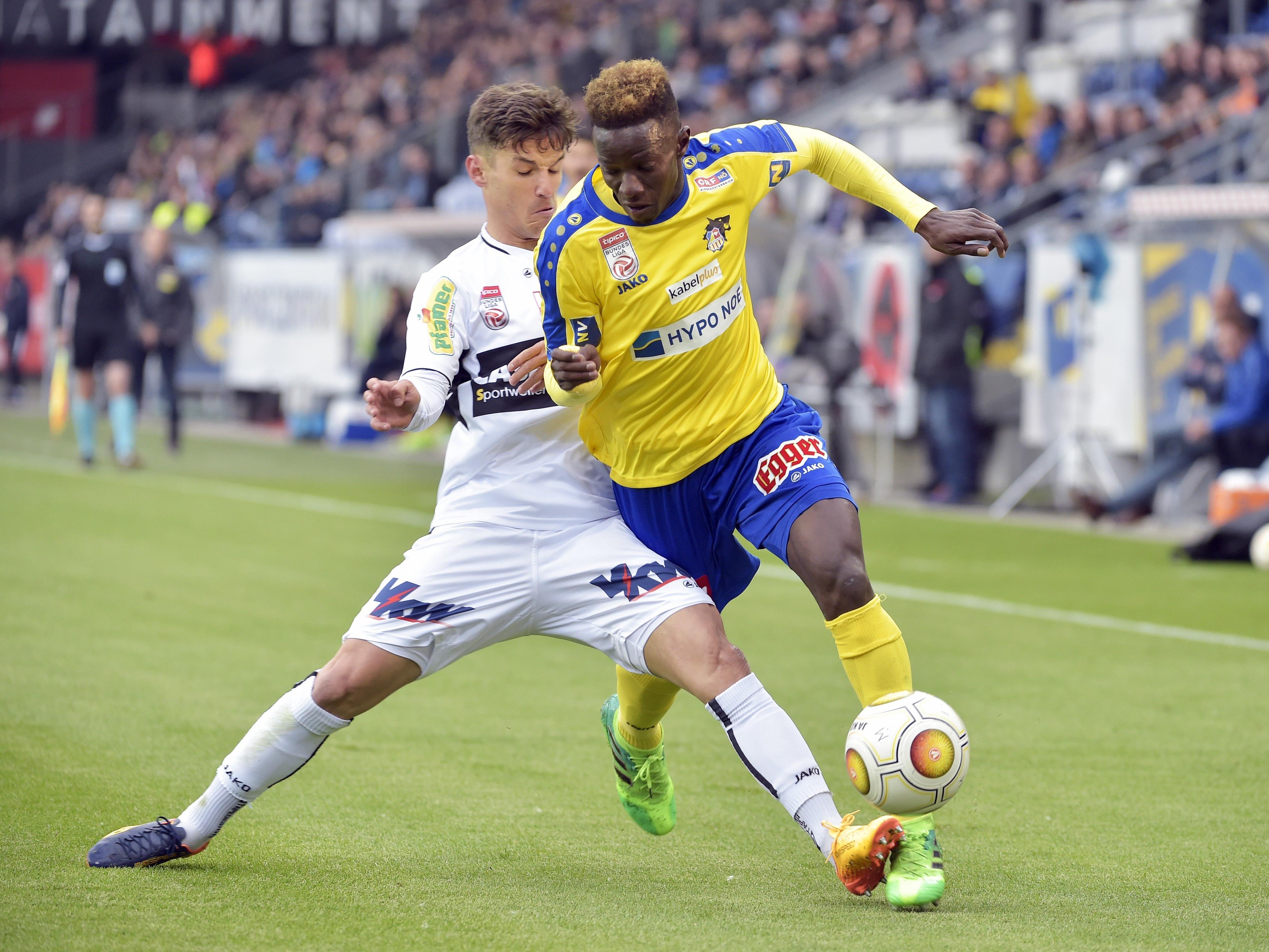 Unentschieden endete das Spiel Altach gegen St. Pölten.