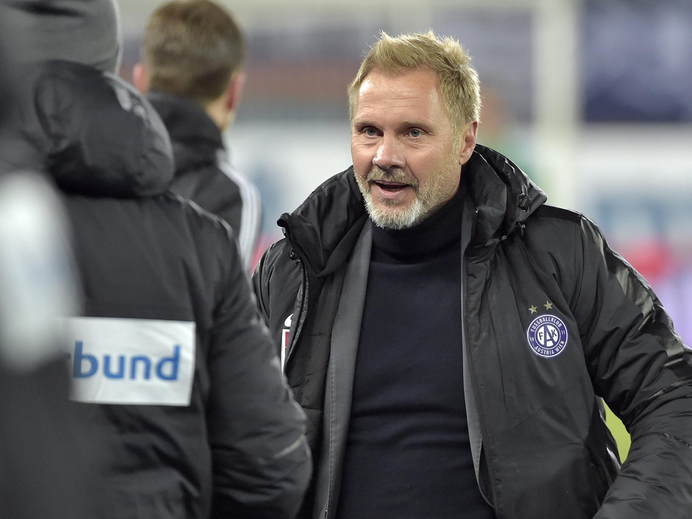 Man spekuliert um die Zukunft von Austria-Trainer Fink.
