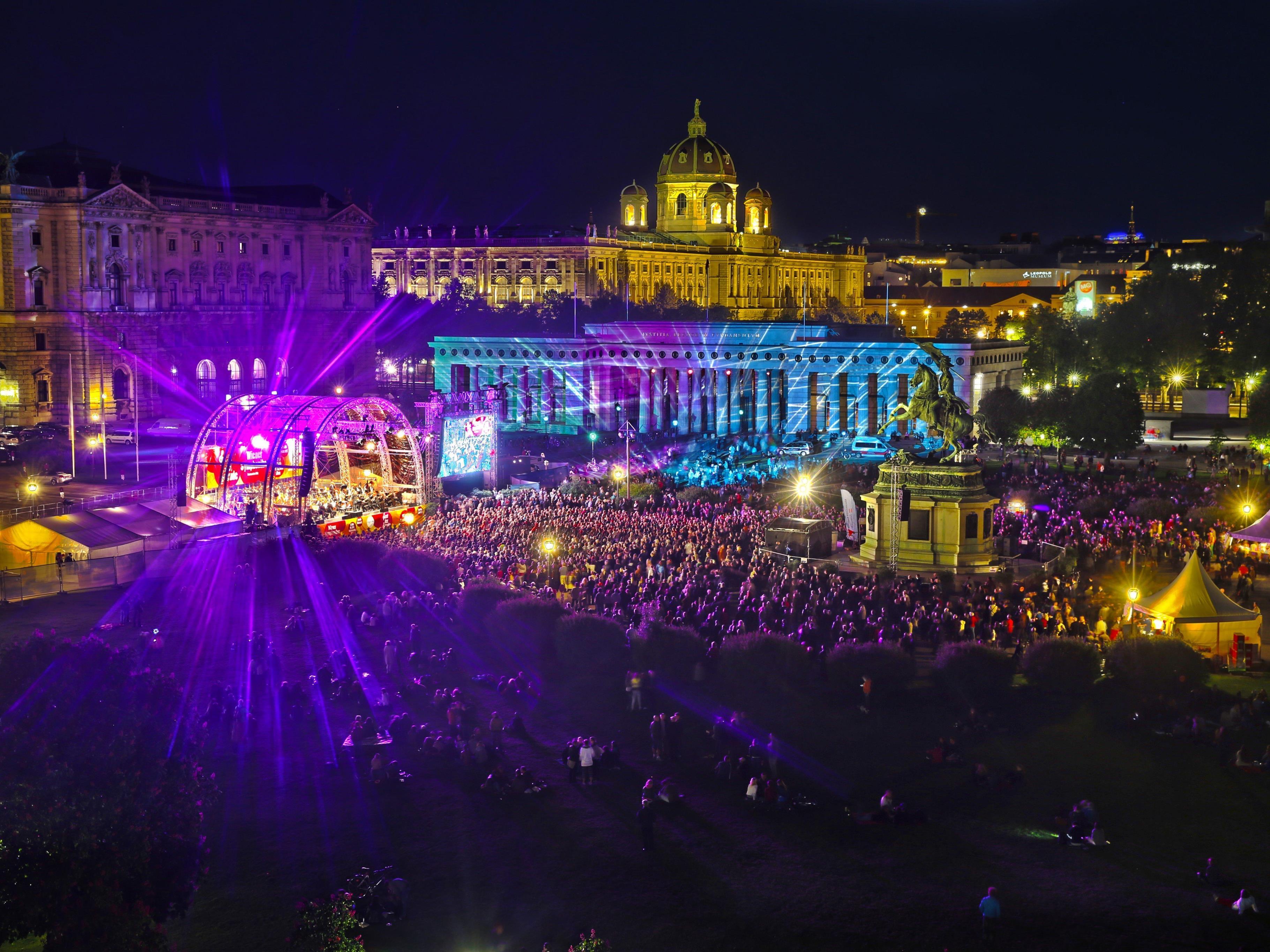Am 8. Mai findet das Fest der Freude am Wiener Heldenplatz statt.