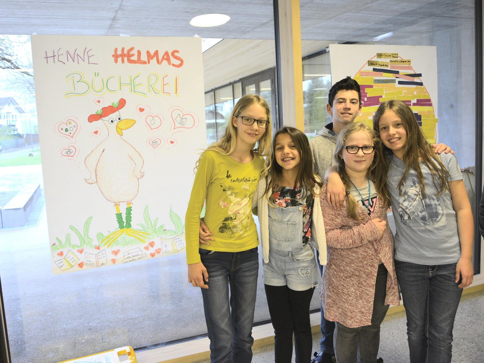 Henne Helma's Bücherei stand am Lesetag im Mittelpunkt.