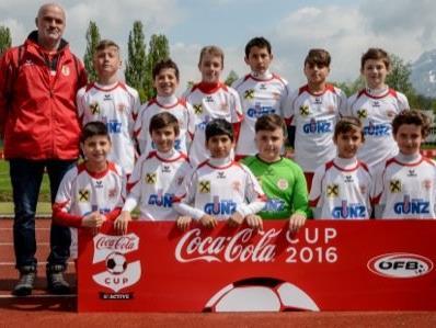 Der FC Dornbirn belegte beim letztjährigen Coca Cola Cup- Landesfinale den zweiten Platz und durfte somit auch nach Wien reisen.