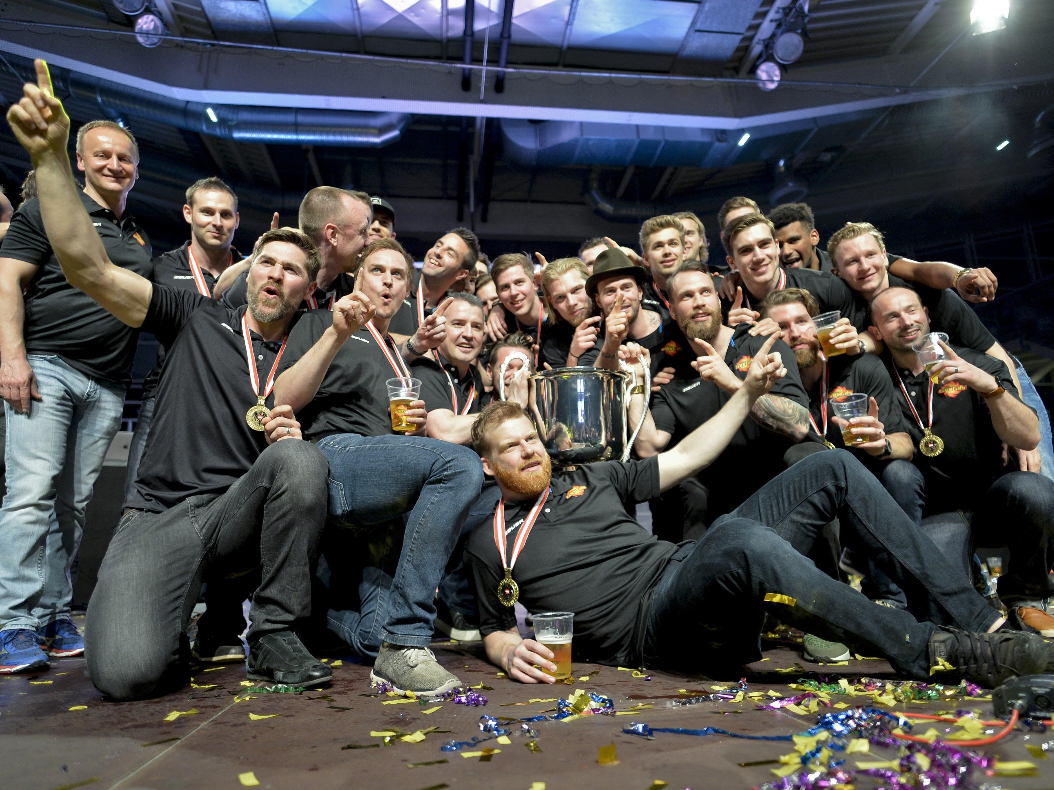Die Capitals feierten ihren zweiten Meistertitel in der Donaustadt