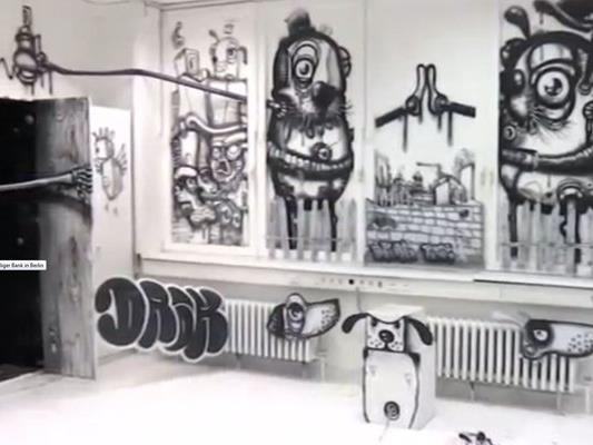 Eine ehemalige Bank in Berlin ist für wenige Wochen ein Street-Art-Museum. Bis zu seinem Abriss Ende Mai können Besucher kostenlos die Werke der mehr als 130 Künstler bewundern.