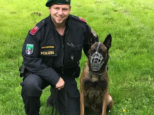 """Polizeihund """"Camaron"""" im Einsatz."""