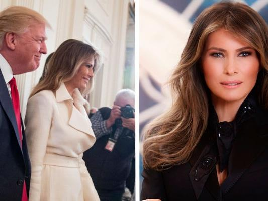 First Lady Melania Trump mit Präsident Donald Trump.