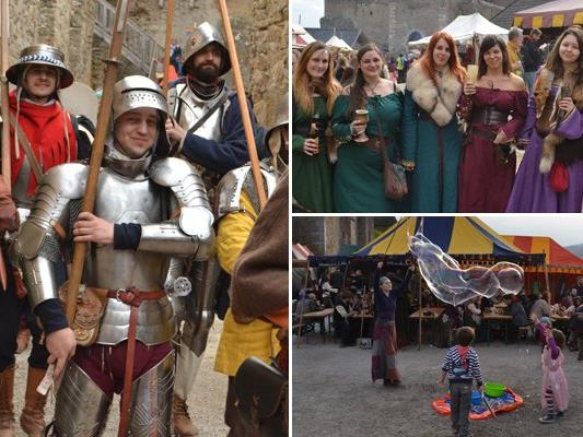 Zahlreiche Besucher schauten beim Mittelaltermarkt vorbei.