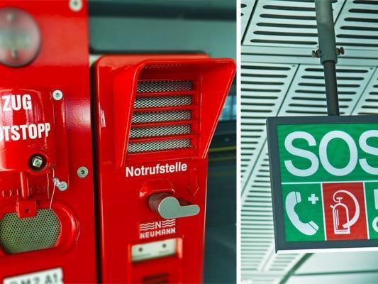 Der Zugnotstopp, die Notrufstelle und der SOS-Würfel sind wichtige U-Bahn-Sicherheitsvorkehrungen