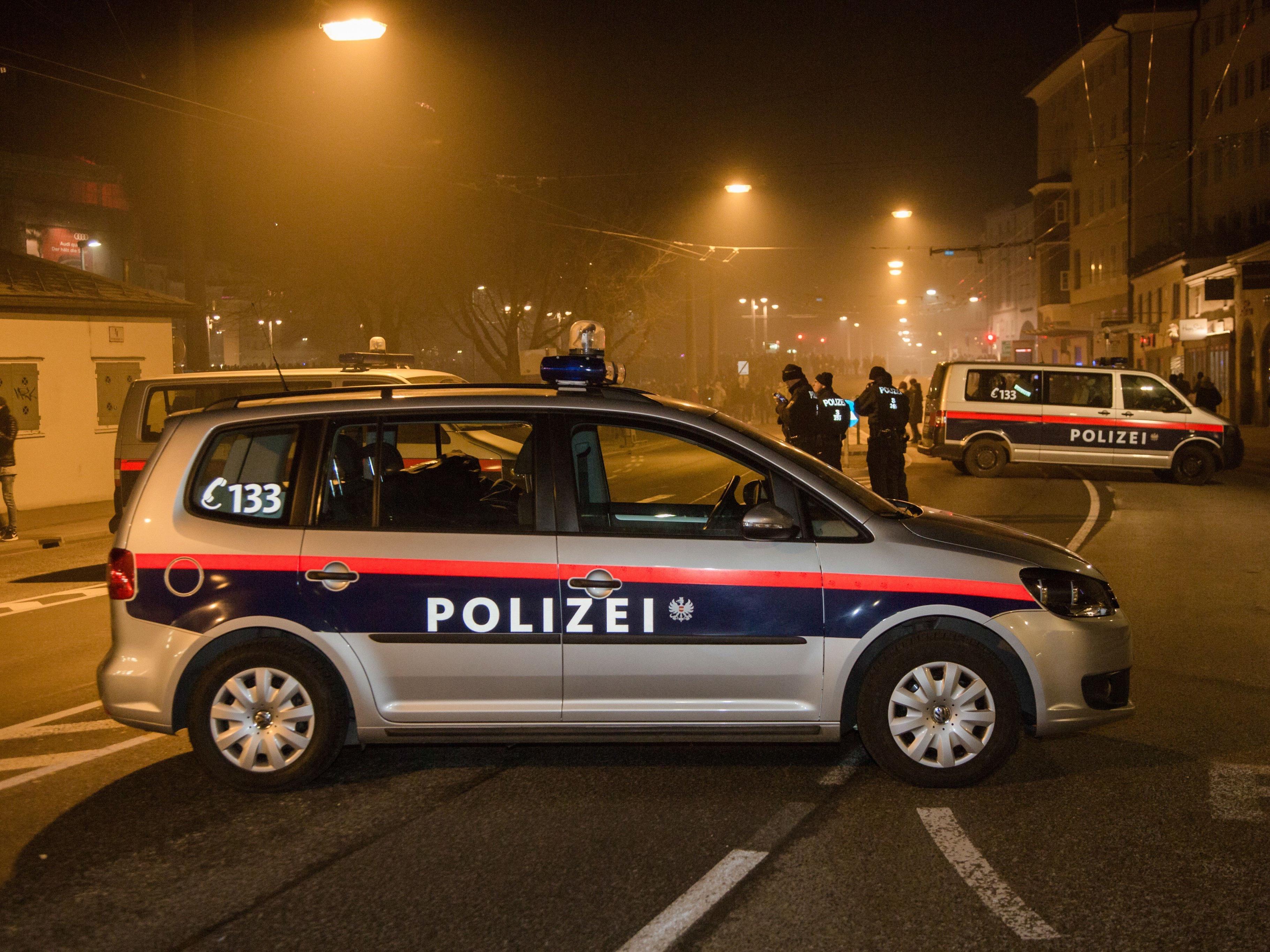 Die Polizei musste einschreiten.