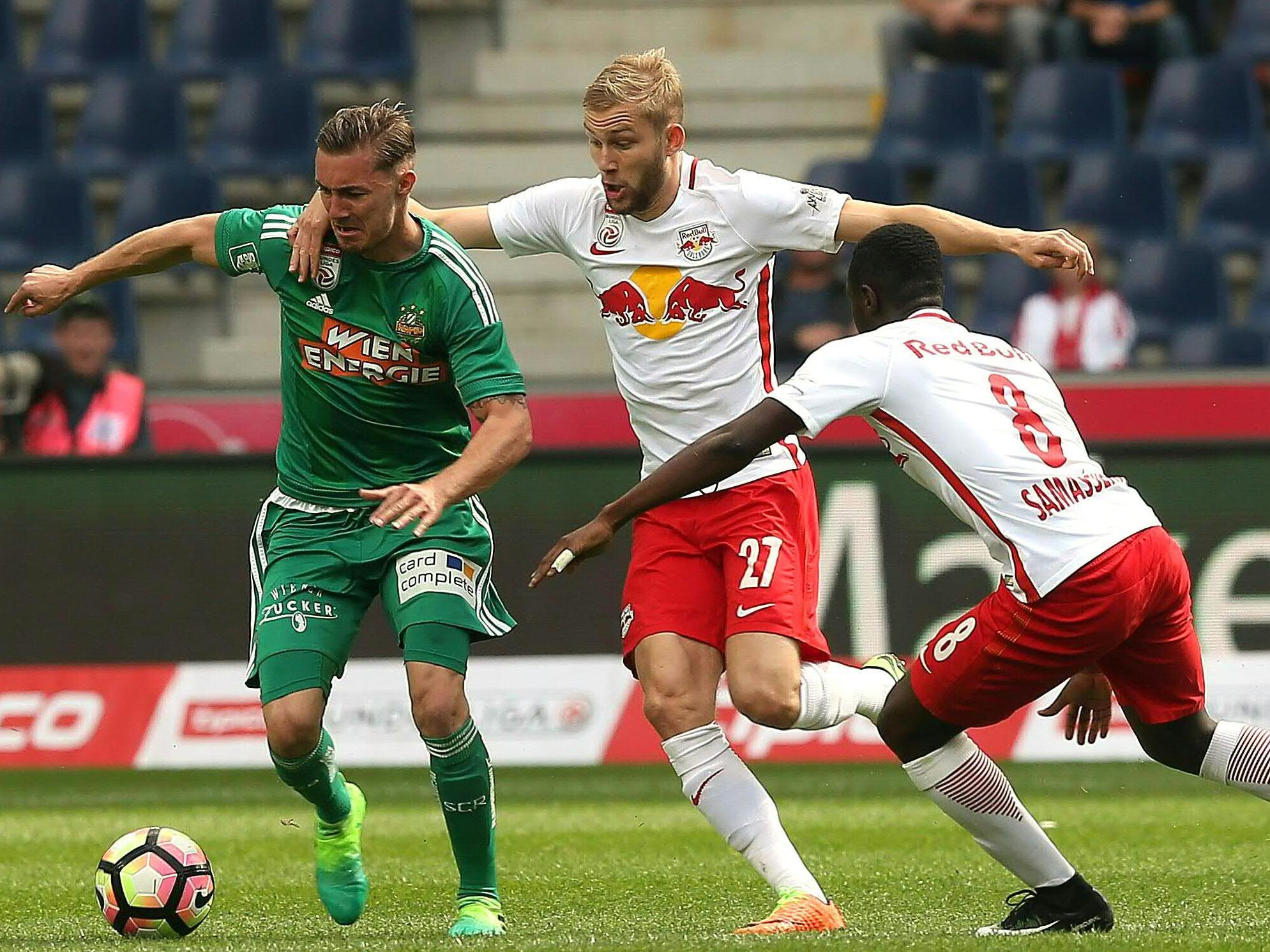 Konrad Laimer und Red Bull Salzburg dürfen den vierten Meistertitel en suite feiern.