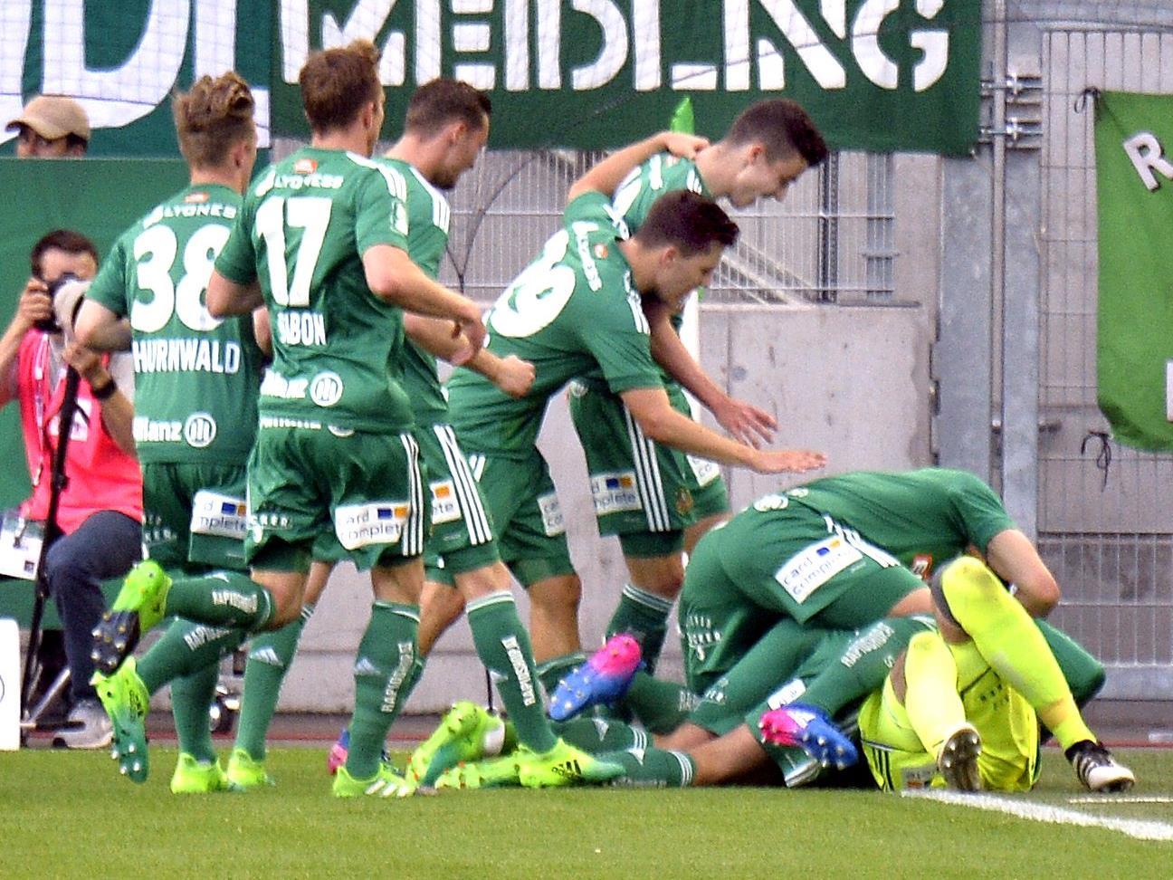 Rapid Wien feierte gegen WAC einen Befreiungssieg.
