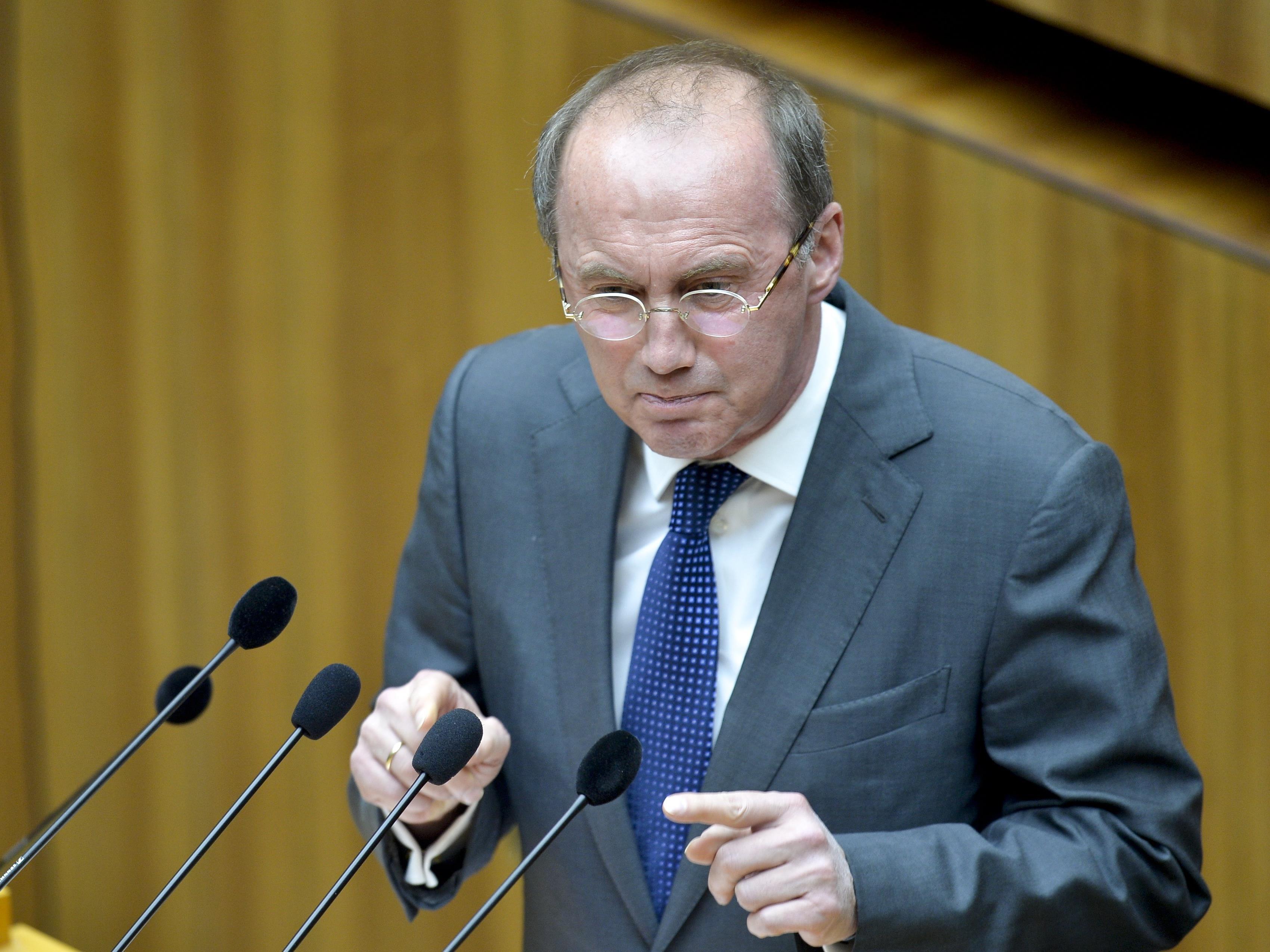 Der Europa-Abgeordnete Othmar Karas war einer der Redner.