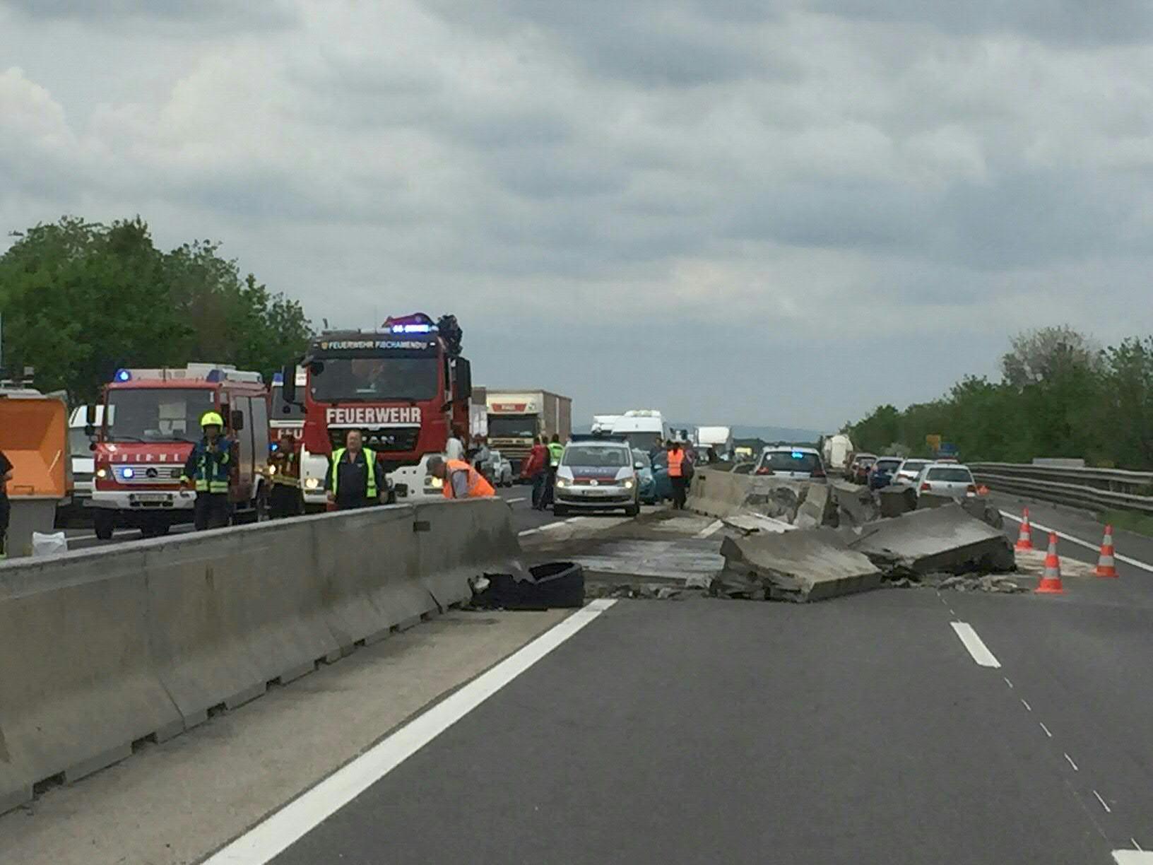 Die Unfallstelle auf der A4