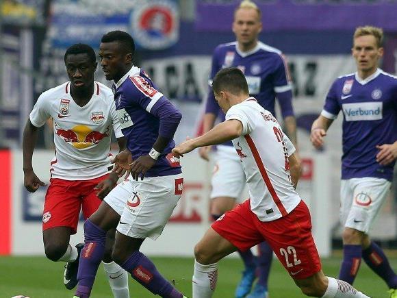 Die Austria Wien muss sich gegen Red Bull Salzburg geschlagen geben.