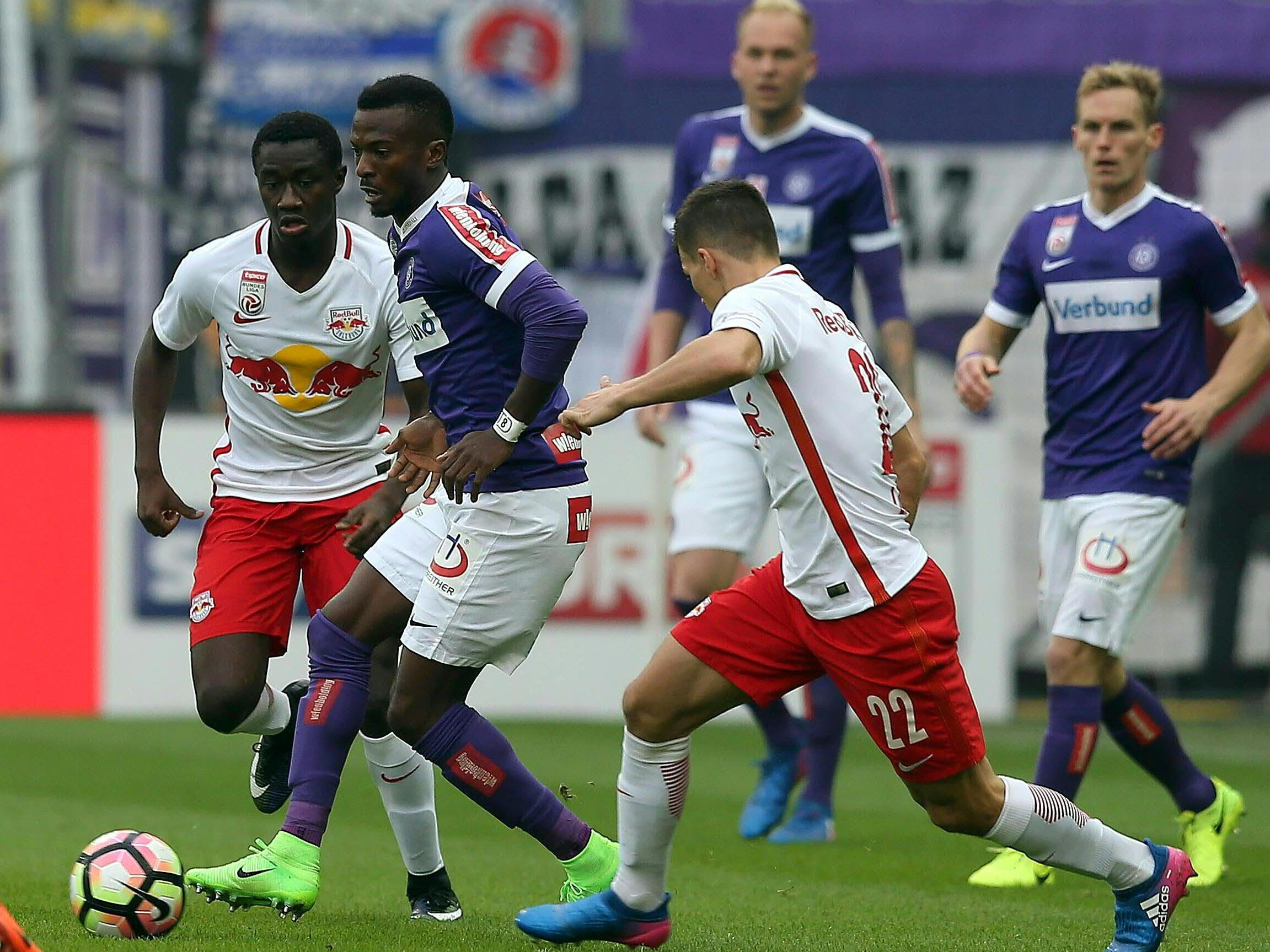 LIVE-Ticker zum Spiel Austria Wien gegen Red Bull Salzburg ab 16.30 Uhr.