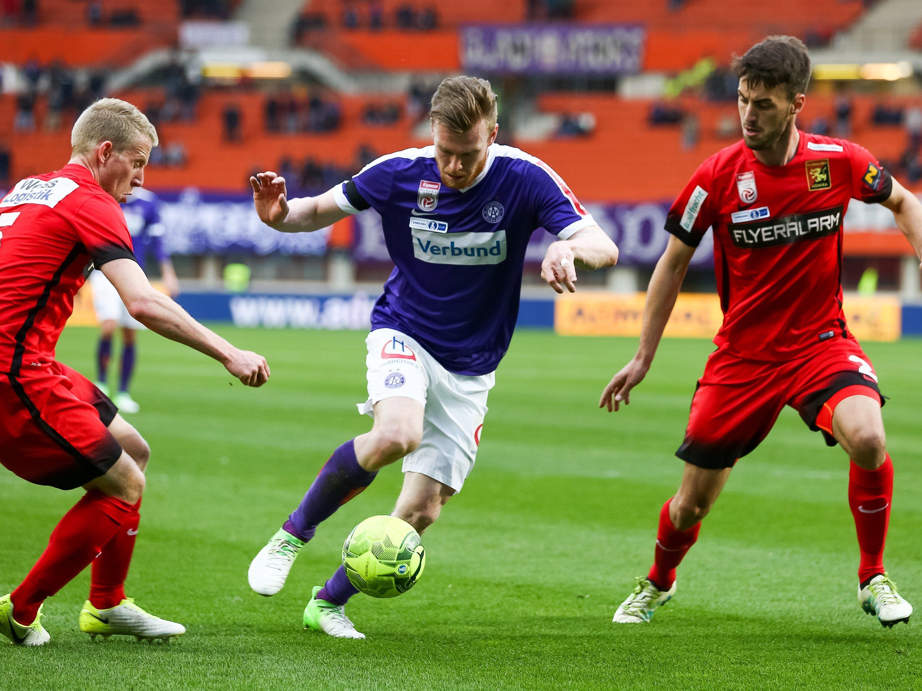 LIVE-Ticker zum Spiel FC Admira Wacker gegen FK Austria Wien ab 16.30 Uhr.