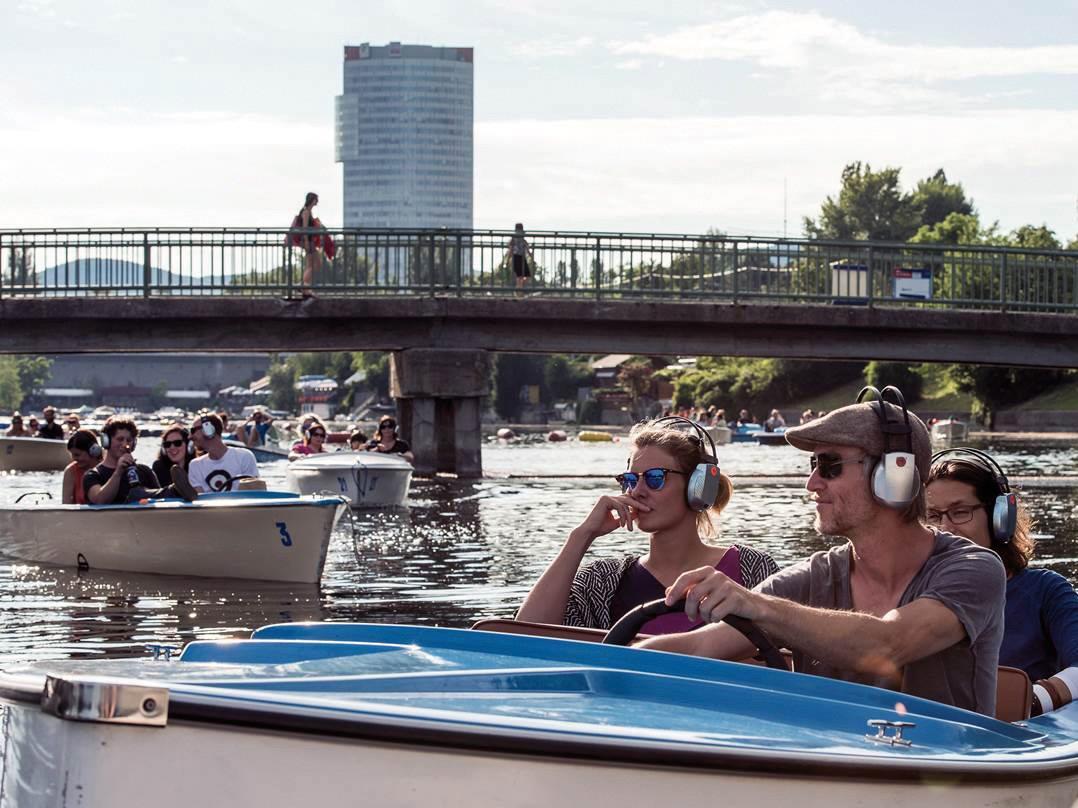 Auch ein Silent Bootskonzert wartetim Rahmen des Festivals.