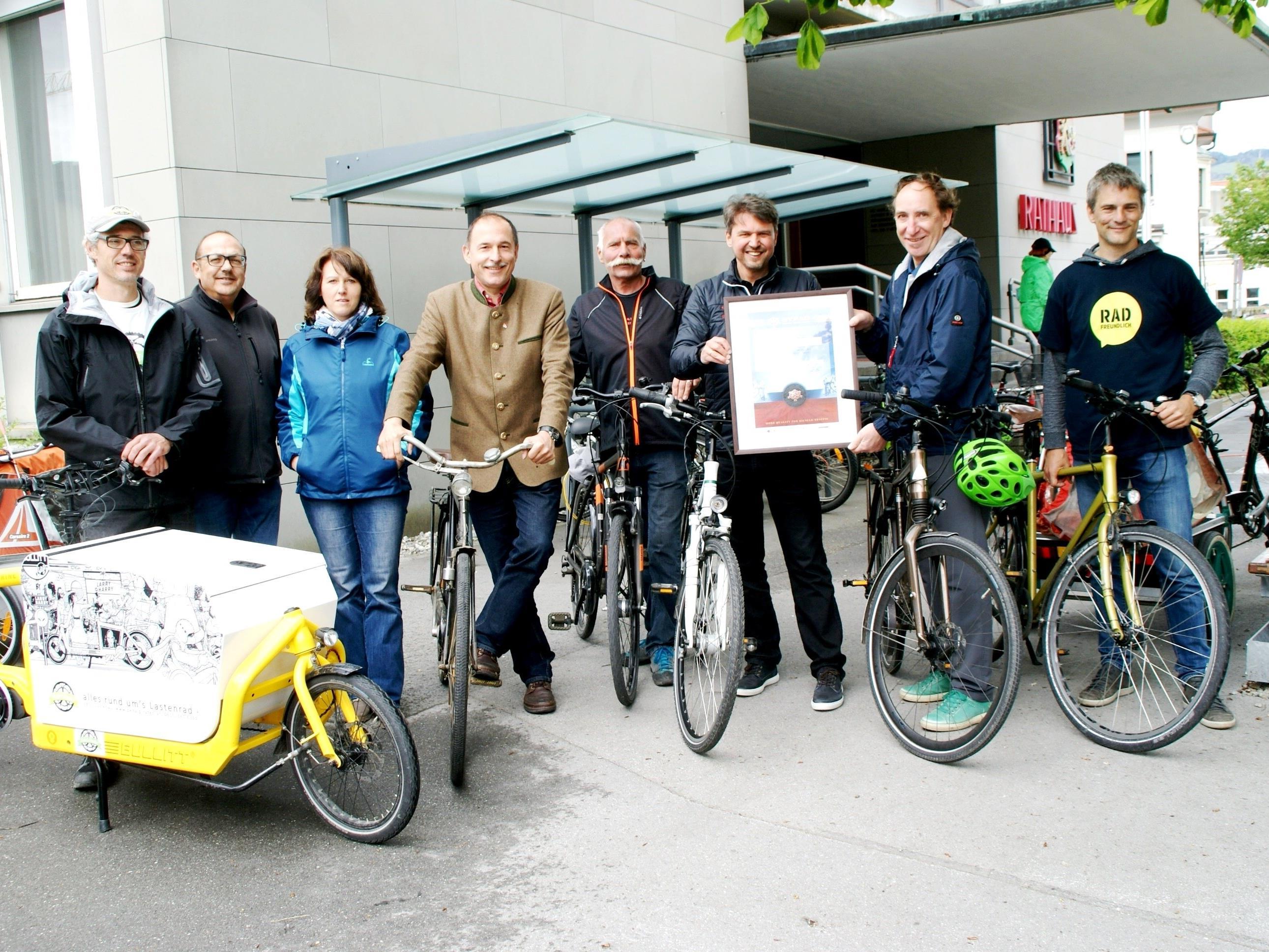 In Lustenau setzt man auf's Radfahren