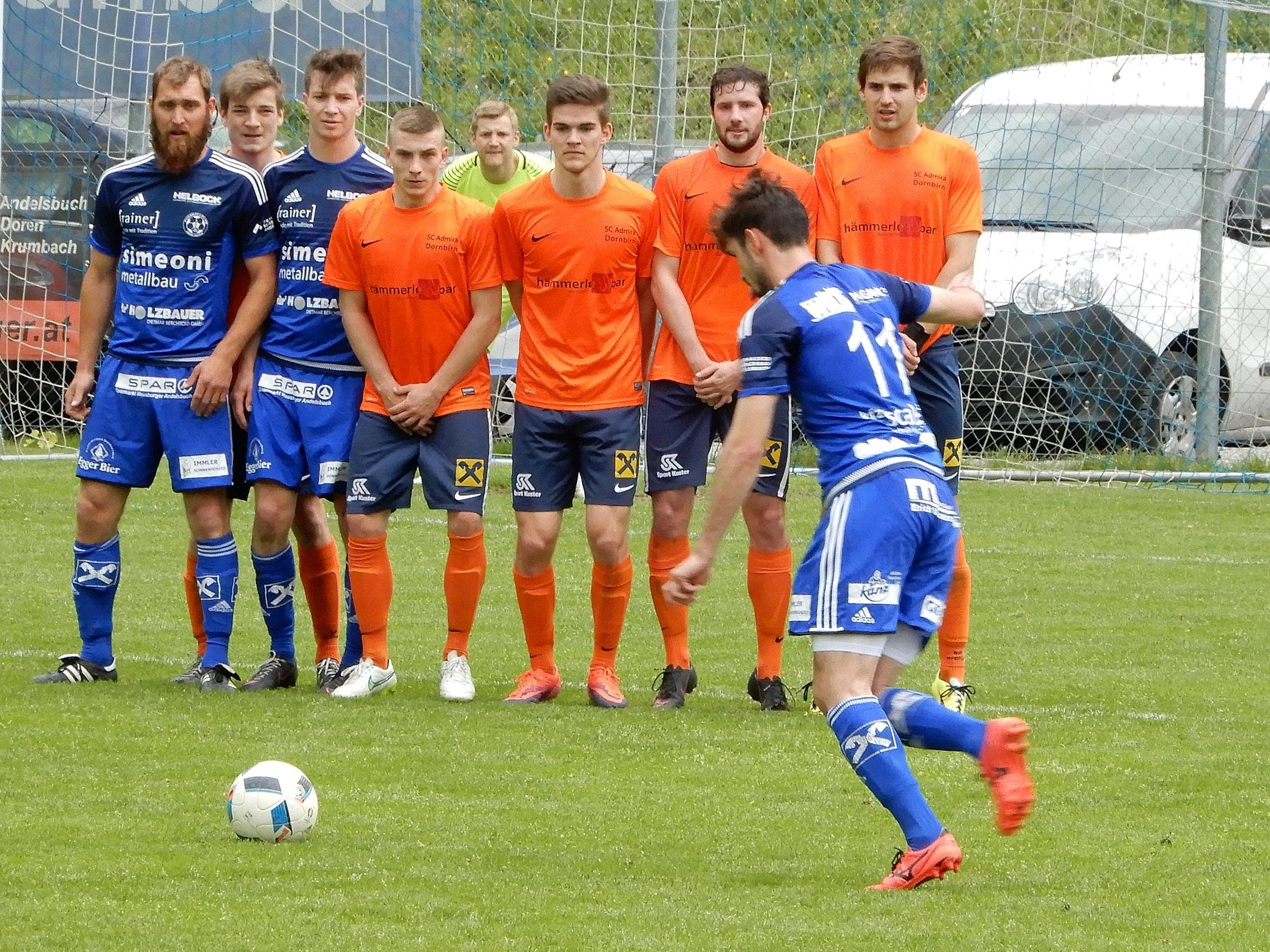 Spektakuläre Torchancen und Aktionen gab es beim Spiel Admira Dornbirn gegen SC Andelsbuch fast im Minutentakt.