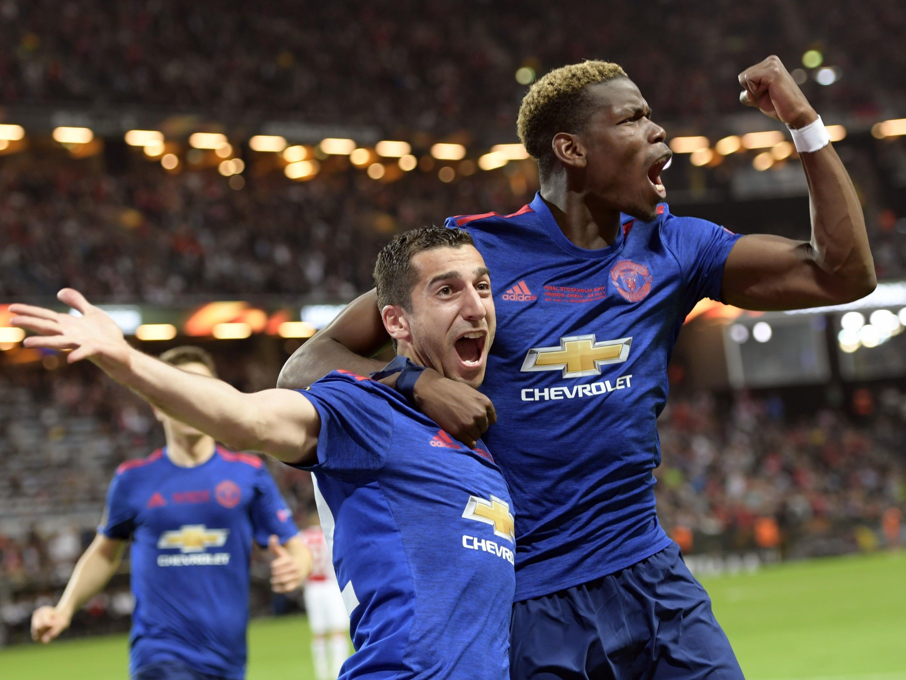 Mkhitaryan und Pogba schossen ManUnited zum Titelgewinn.