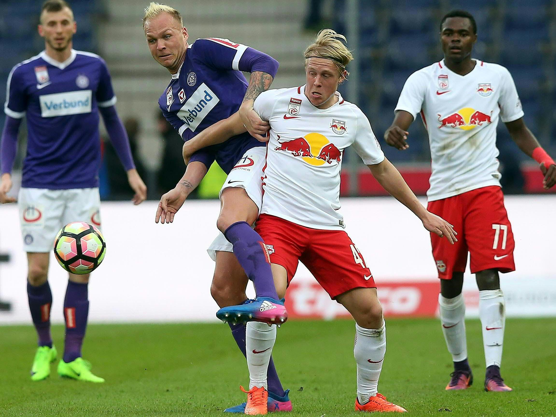 Die Wiener Austria empfängt Red Bull Salzburg am Donnerstagnachmittag.