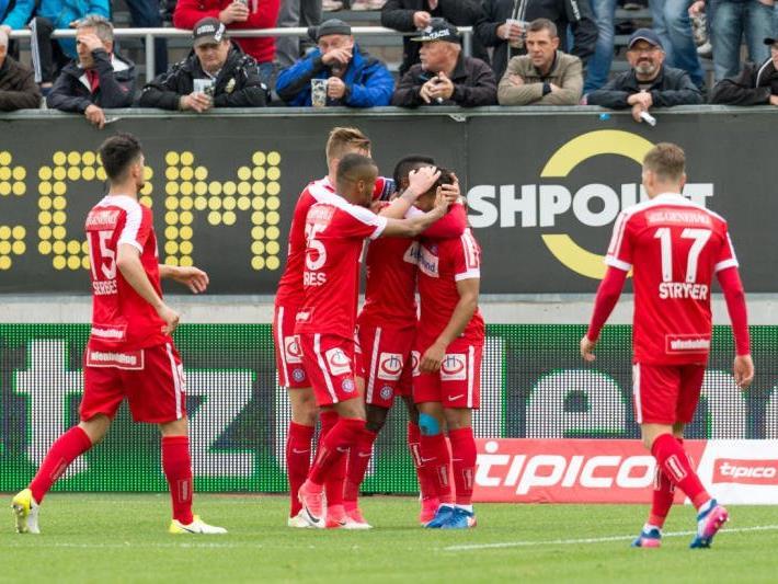 Freude bei der Austria nach dem 1:1.