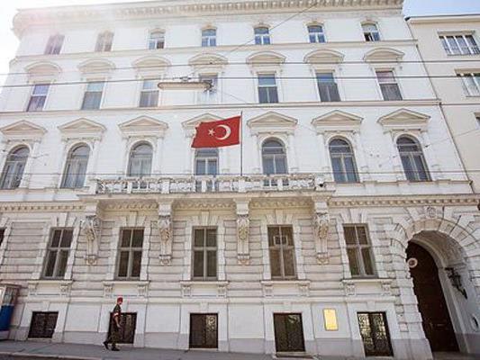 Vor der türkischen Botschaft in Wien wird am Mittwoch demonstriert.
