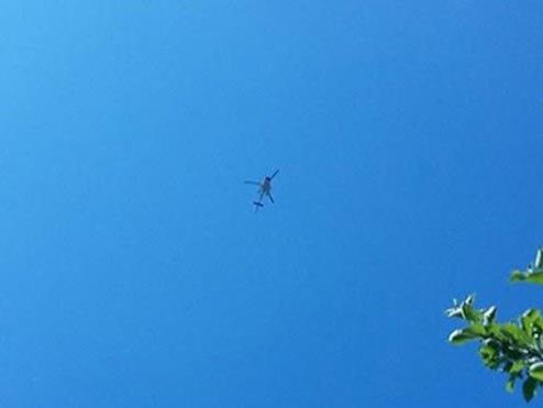Hubschrauber kreist über Dornbirn