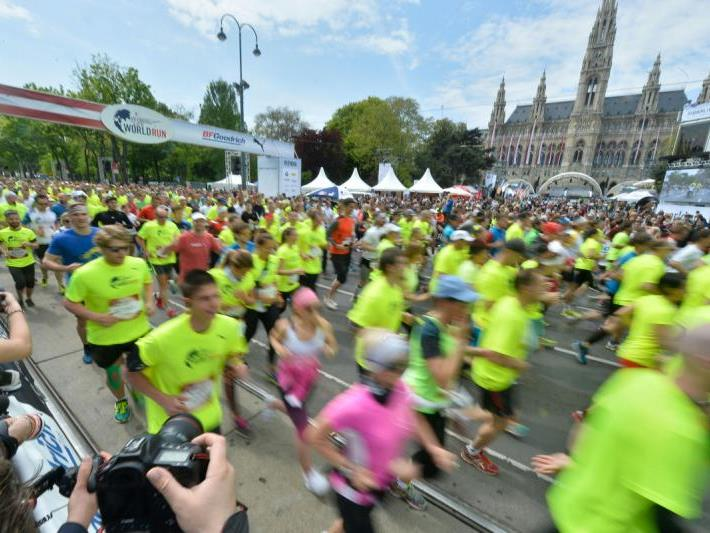 Auch in Wien gingen viele Läufer an den Start.