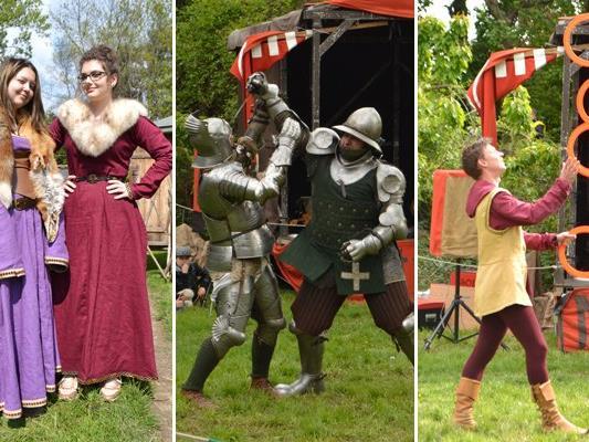 Beim Ritterfest auf der Zirkuswiese Alt Erlaa herrschte mittelalterliches Treiben.
