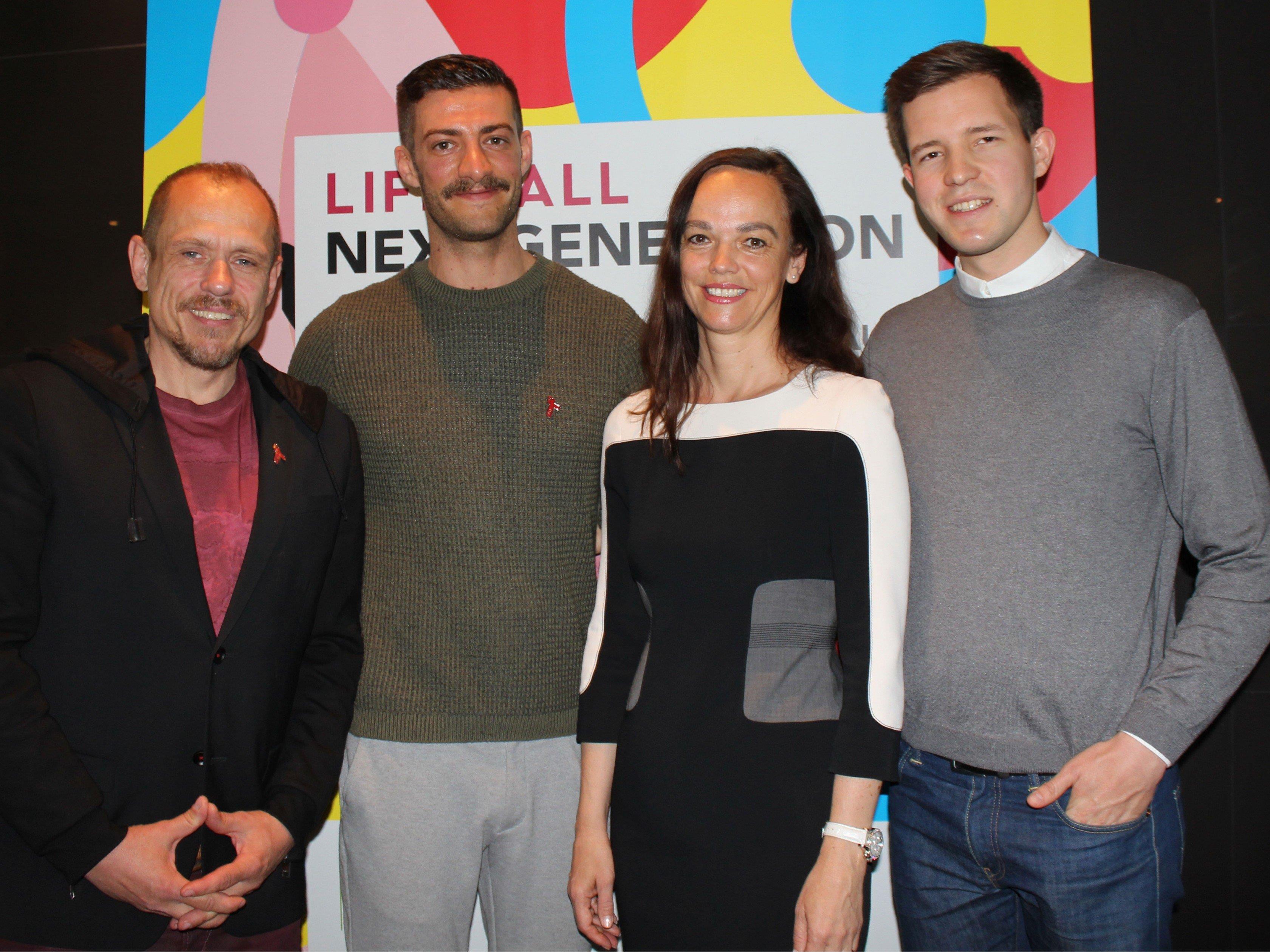 """Bei der Pressekonferenz zu """"Lifeball: Next Generation""""."""