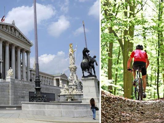 Mountainbiker werden vor dem Parlament für eine Freigabe der Forststraßen demonstrieren
