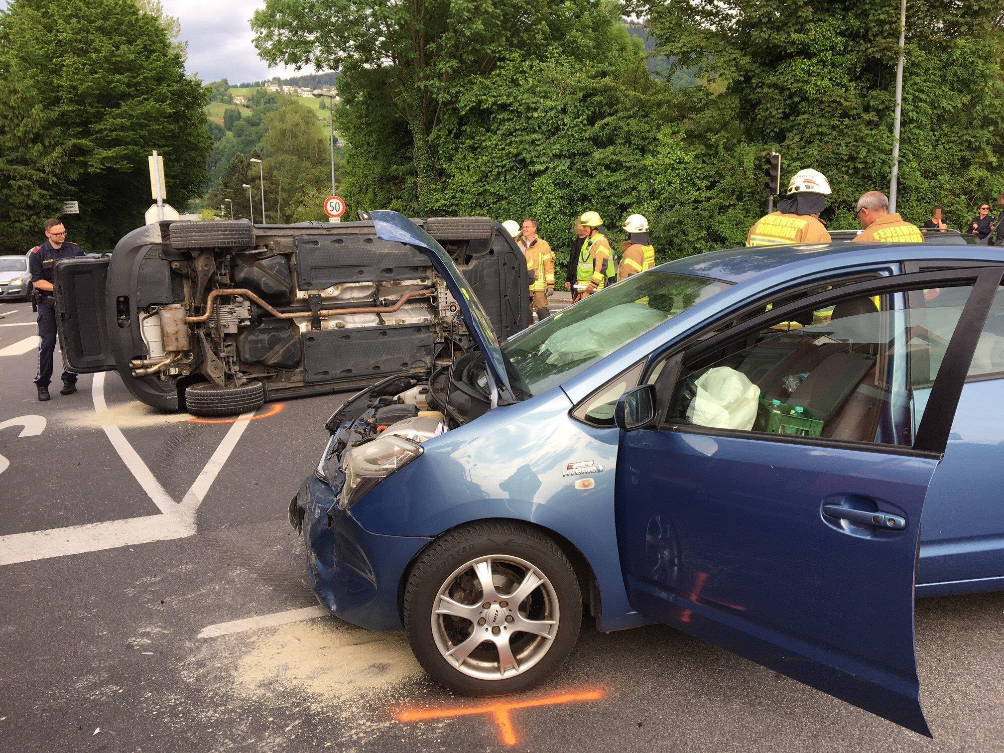 Zwei Pkw waren am Mittwoch Abend in einen Unfall in Dornbirn-Schwefel involviert.