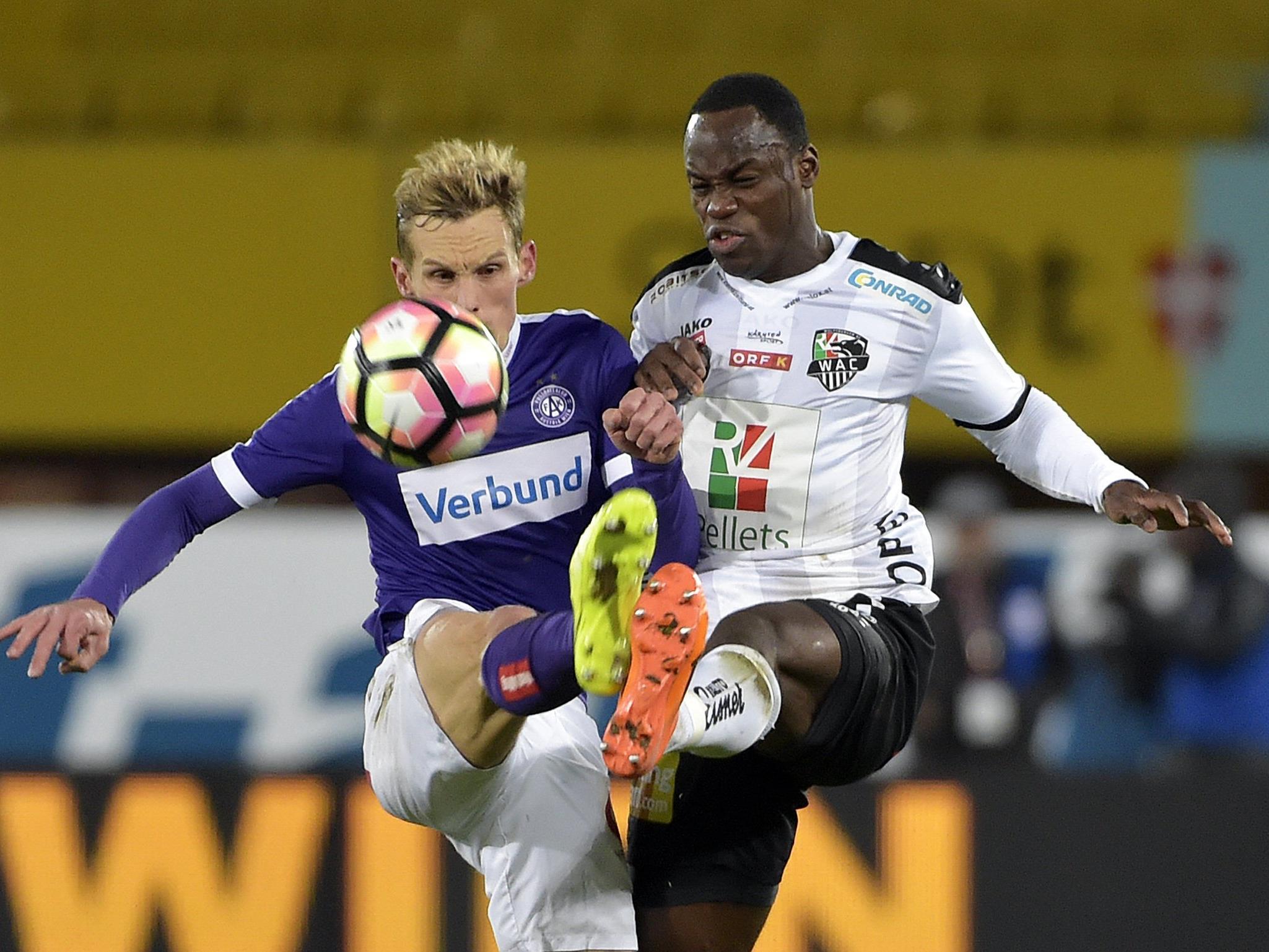 LIVE-Ticker zum Spiel WAC gegen FK Austria Wien ab 18.30 Uhr.