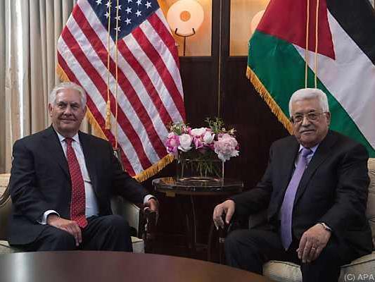 US-Außenminister einigte sich mit Palästinenserpräsident Abbas
