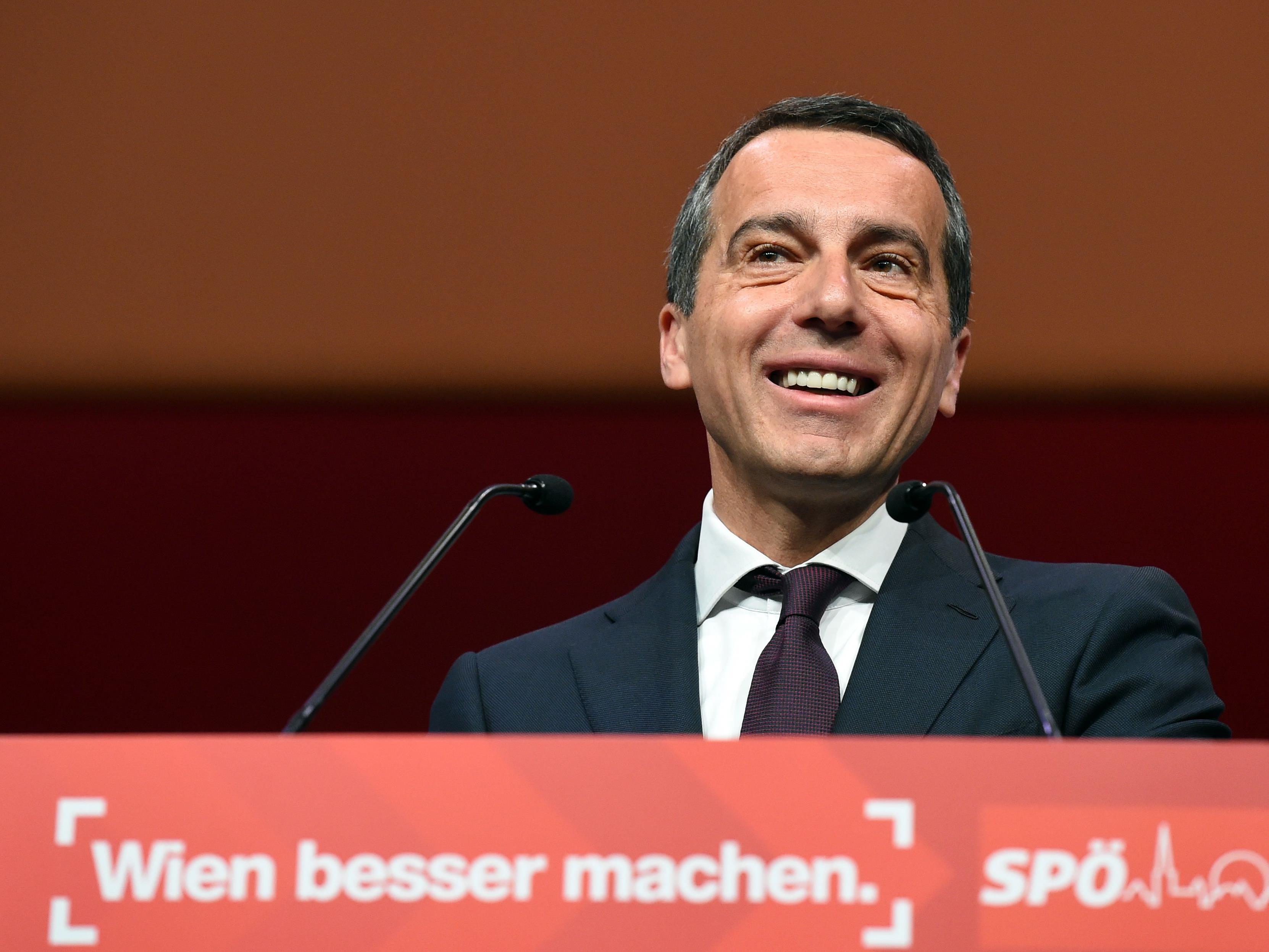 Auch in Wien ist Bundeskanzler Christian Kern SPÖ-Spitzenkandidat.