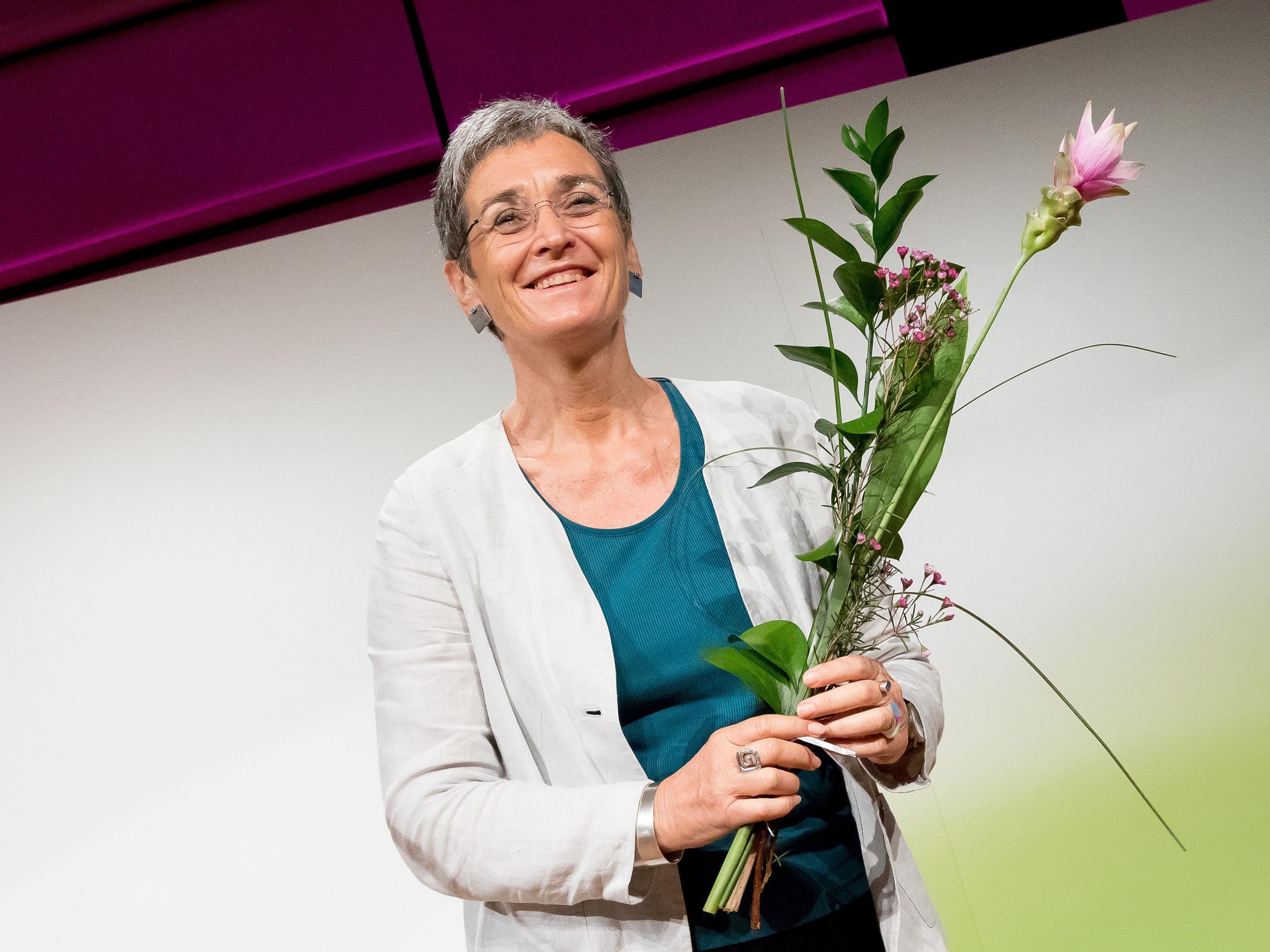 Ulrike Lunacek (Grüne) während der Landesversammlung der Wiener Grünen