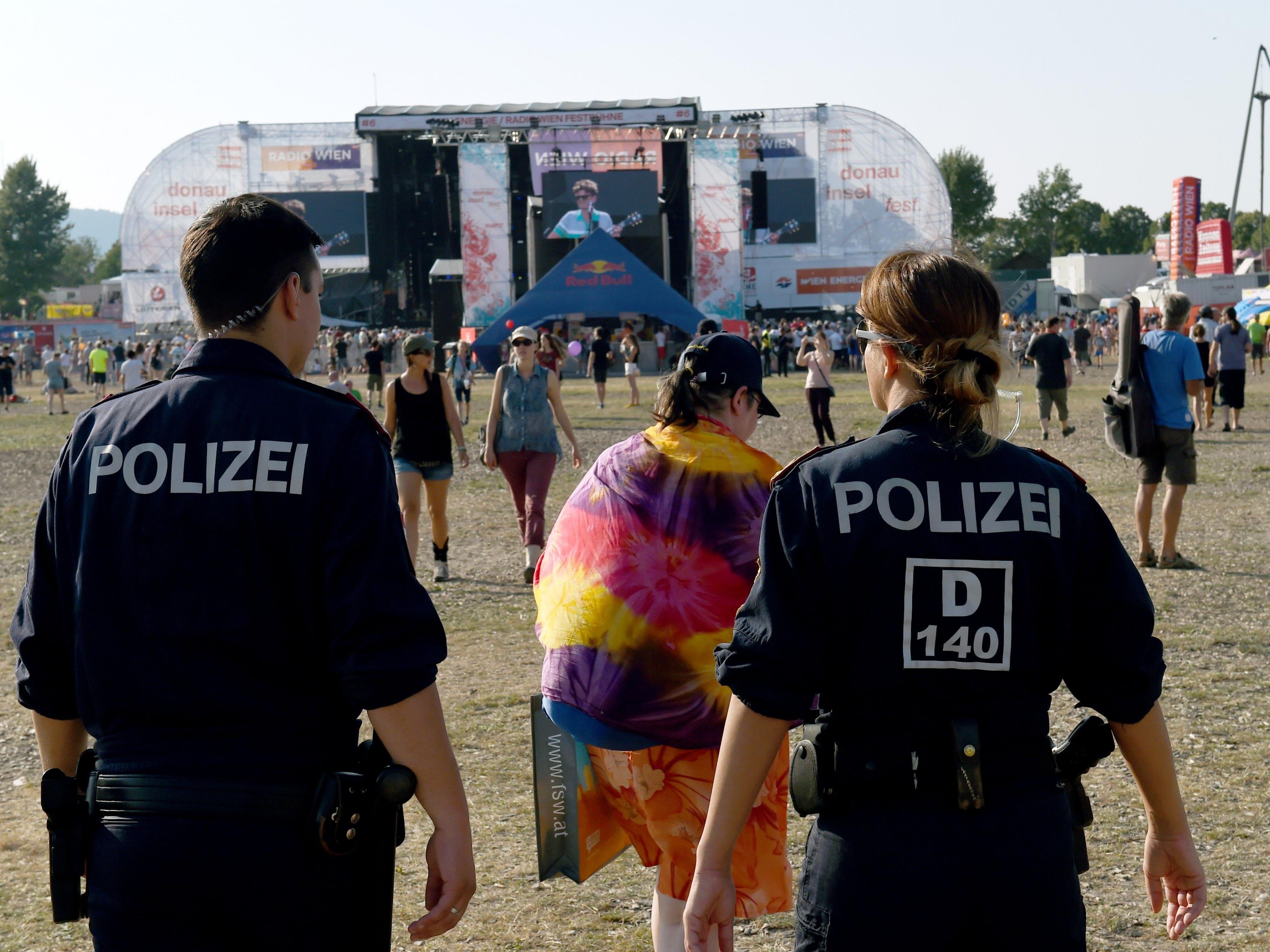 1.000 Polizeibeamte versahen auf der Donauinsel ihren Dienst