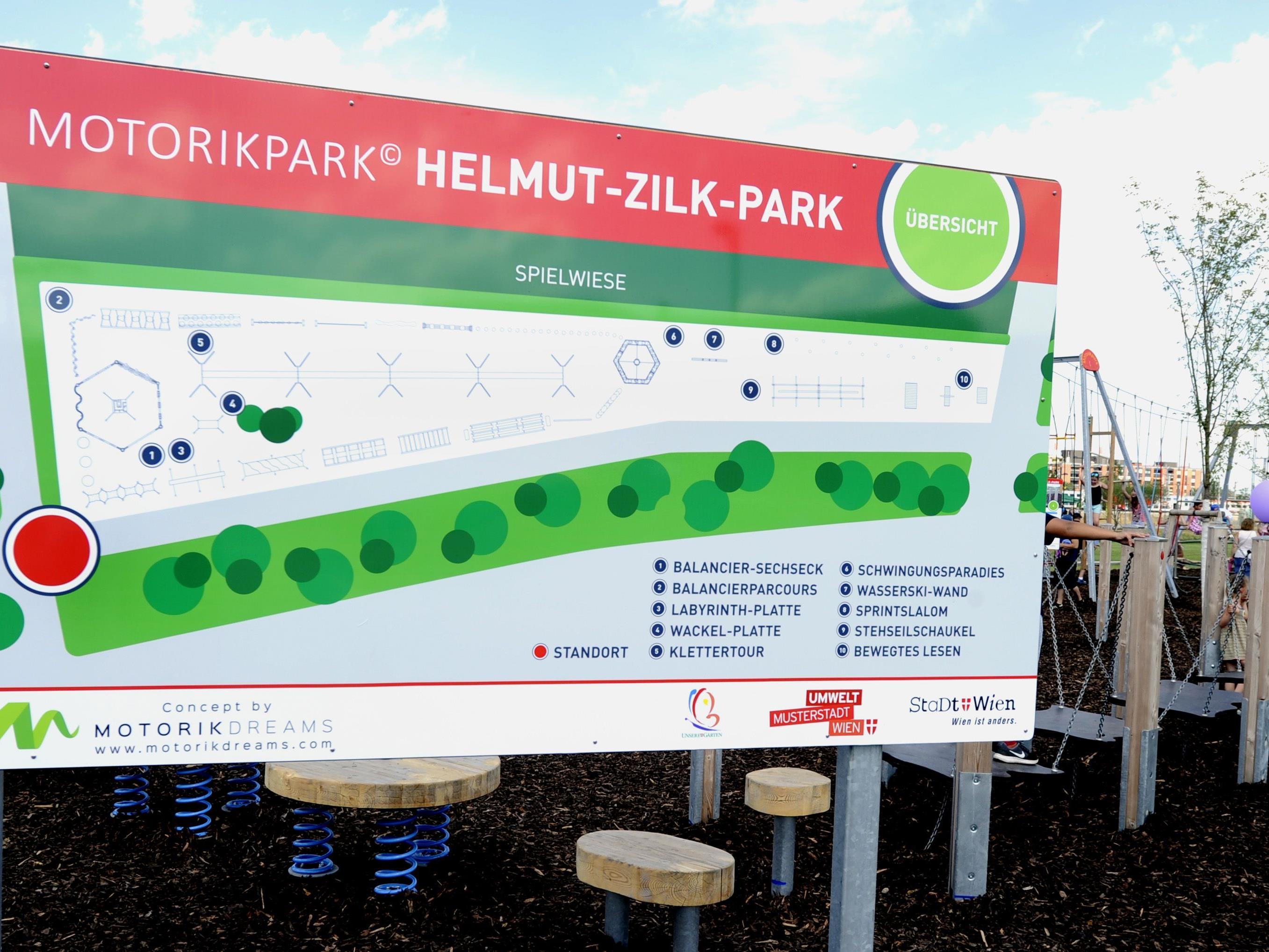 Bei der Eröffnung des Helmut-Zilk-Parks