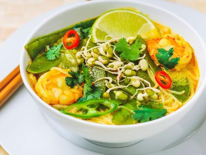Darf es vielleicht eine exotische Laksa Soup sein?