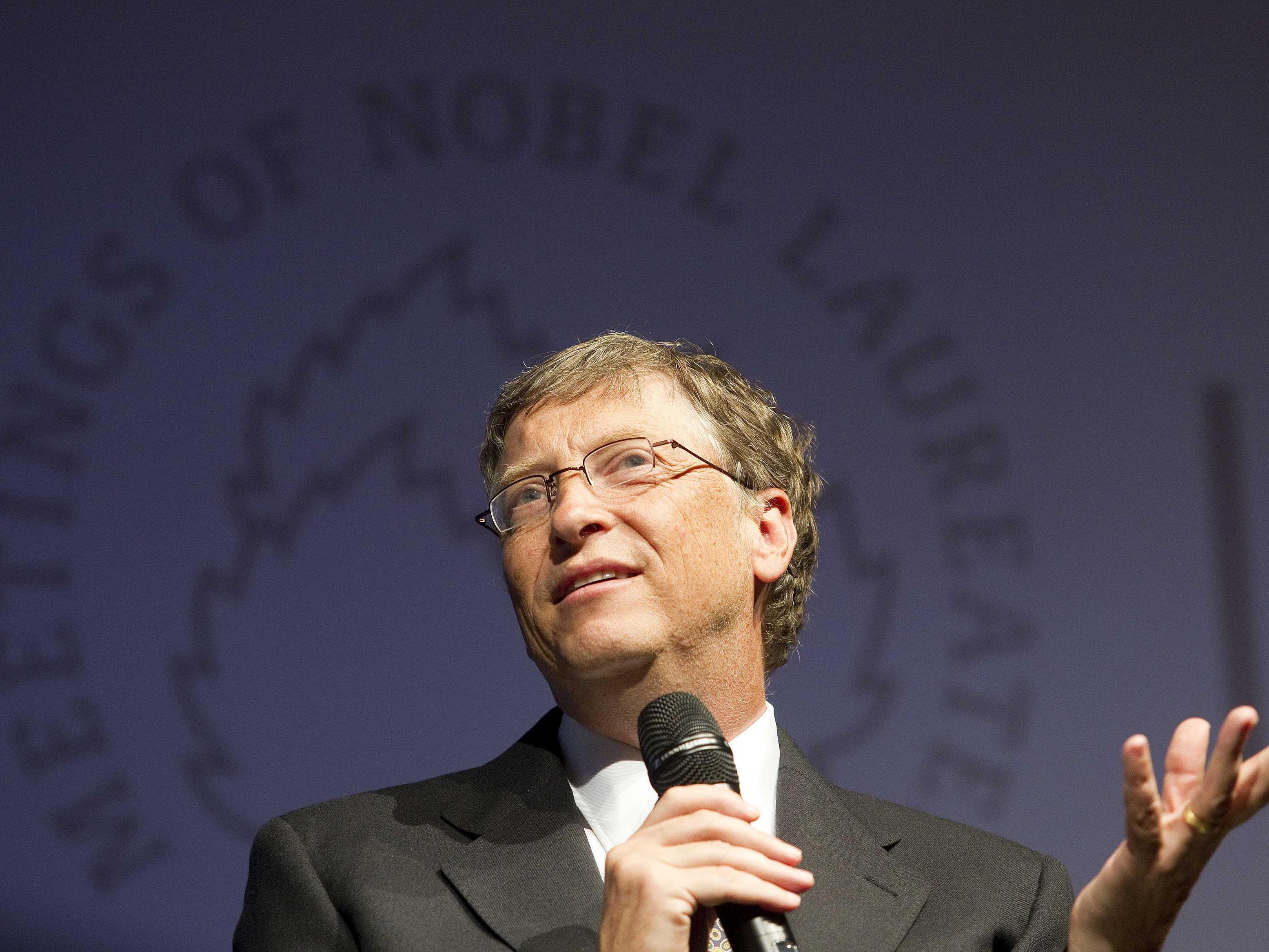 Milliardär und Philantrop Bill Gates sprach (auch ohne Nobelpreis) bei der 61. Nobelpreisträgertagung in Lindau.
