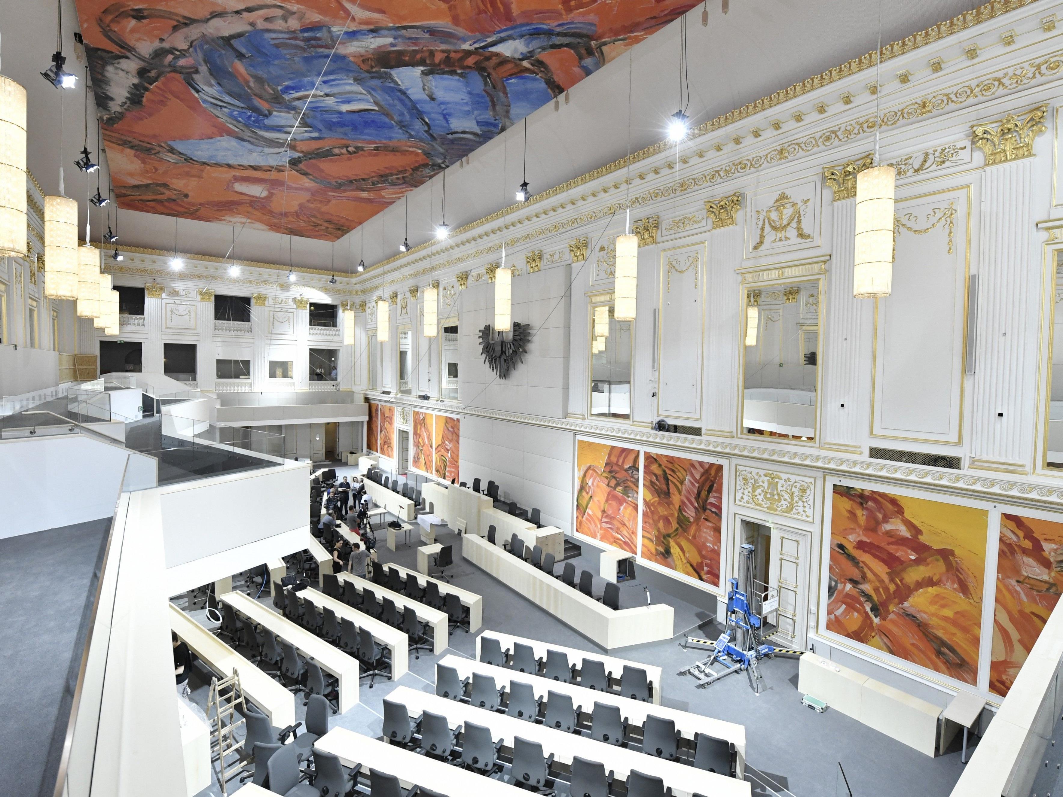 Der neue Plenarsaal in der Wiener Hofburg