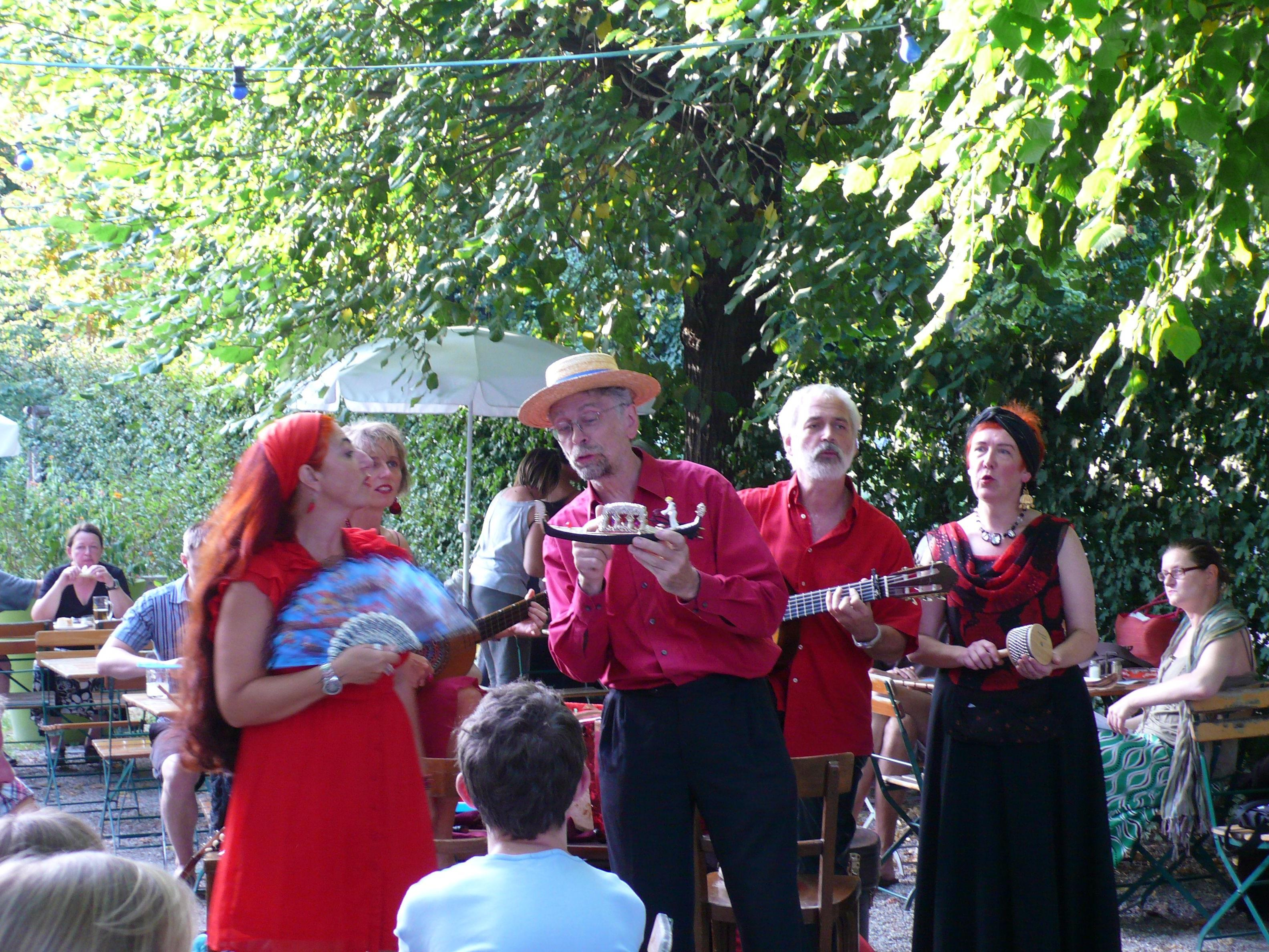 Mit dabei bei Silent Music im Wiener Augarten: Die Band All'Arrabbiata