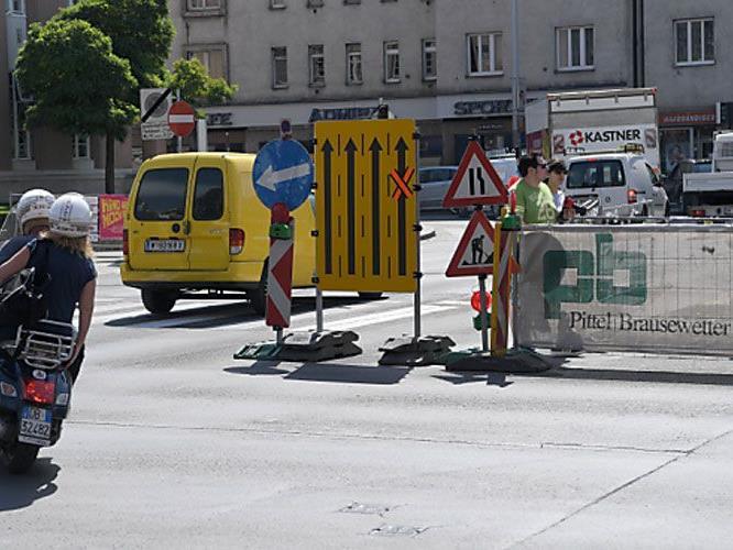 An den Baustellen in Wien geht es munter weiter.