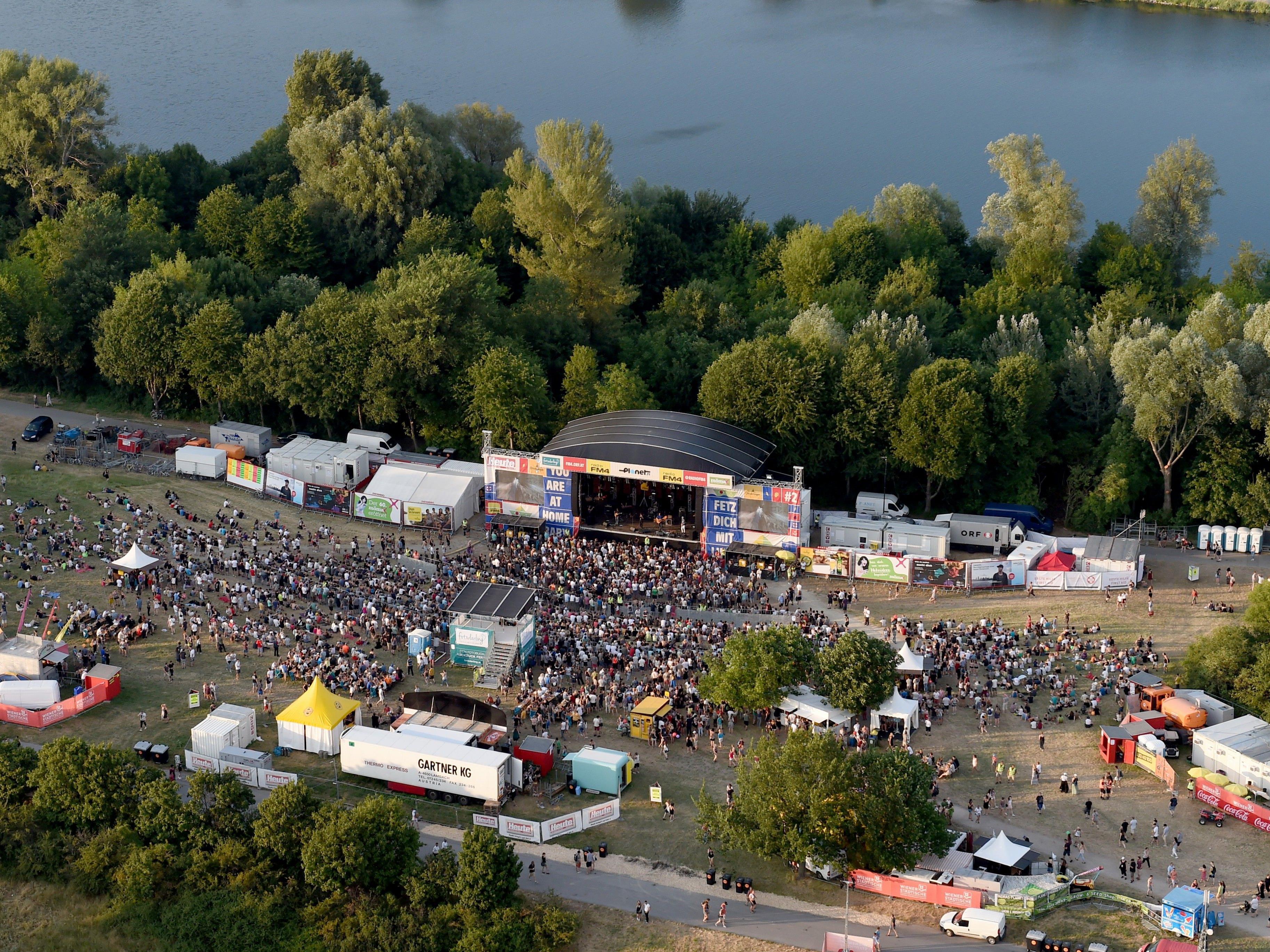1,1 Millionen Besucher fanden sich am Samstag beim Wiener Donauinselfest ein.