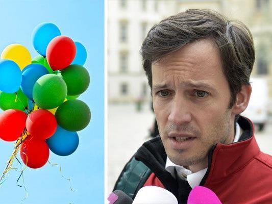 Die Caritas ließ für den guten Zweck Ballons steigen