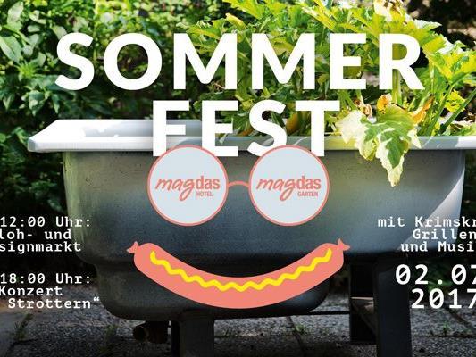 Am Sonntag findet im magdas Hotel ein großes Sommerfest statt