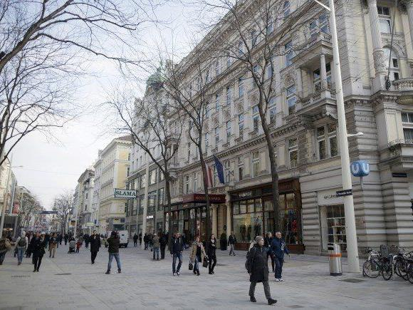 Sechs Personen wurden in der Wiener Mariahilfer Straße wegen Ladendiebstahls festgenommen.